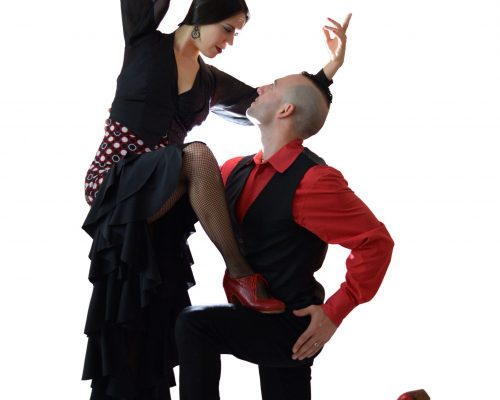 flamenco-red-black-couple